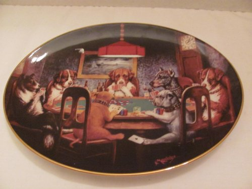 Dogs Playing Poker Collector Plate Franklin Mint