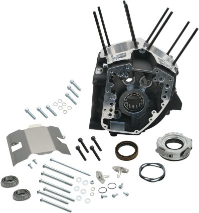 S&,S Cycle S&S Cycle Super Stock T2 Wrinkle Black Engine Case w/ 4-1/8