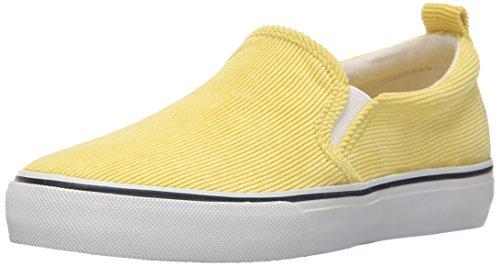 Polo Ralph Lauren Kids Carlee Twin Gore CR Dry Fashion Sneaker (Little Kid/Big Kid), Neon Yellow, 6.5 M US Big Kid