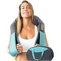 Masajeador eléctrico de cuello, hombros y espalda con calor, almohada masajeadora de cuello, espalda, hombros, pies y…