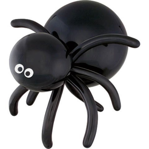 Qualatex Spider Eyes 5  Round Latex Balloons (Top Print), Black  Pack of 100 by Pioneer Balloon Company