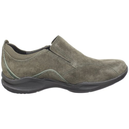 Clarks Womens Wave.crest Slip-on In Pelle Scamosciata Color Carbone