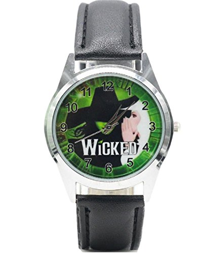 Broadway Leather - Broadway Musical Wicked Genuine Leather Band WRIST WATCH