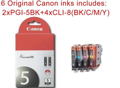 Cannon 6 pack of New Genuine/Real/Actual/Original ink-jet...