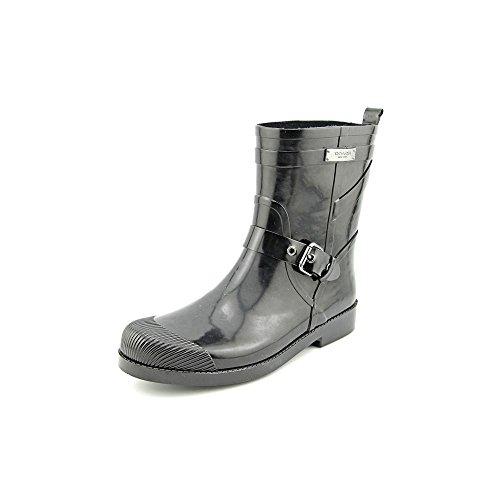 Coach Lester Shiny Rubber Women US 6 Black Rain Boot ()