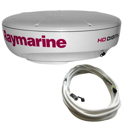 Raymarine RAY-T70169 RD424HD Hi-Def Color 4KW 24-Inch Digital Radome with 10 Meter Raynet Cable