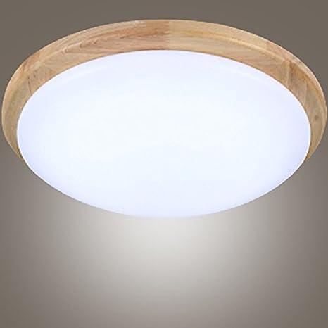 fenfy - Lámpara de techo LED acrílico lámparas de madera de ...