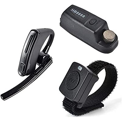 HYS Wireless Bluetooth Earpiece Headset with Wireless PTT and Dongle For Motorola XPR 6000 XPR6500 XPR6550 XPR 7000 XPR 7550 XiR-P8200 XiR-P8268 Two-Way Radio