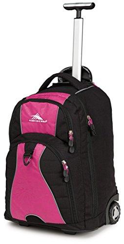 High Sierra Freewheel Wheeled Book Bag Backpack (20.5 x 13.5 x 8-Inch, Pink)