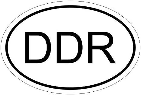 Kiwistar Ddr 10 X 6 6cm Autoaufkleber Sticker Aufkleber Kfz Flagge Auto