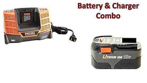 Rigid 18V Li-Ion 3.0 AH Battery (R840084) & 18V Charger (R840093) Combo Kit # 130383031-BC-140154001
