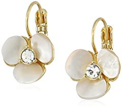 Dance all night long without a care in the world when you wear the fabulous Kate Spade New York® Disco Pansy Leverbacks. Plated metal with foil-backed stones. With or without enamel dependent upon color selected. Lever back closure. Imported...