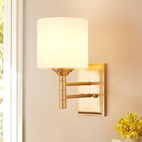 MMYNL Moderne E27 Antik Wandlampe Vintage Wandlampen Wandleuchten für Schlafzimmer Wohnzimmer Bar Flur Bad Küche Balkon Copper Mirror Headlight 21X30CM Wandleuchte
