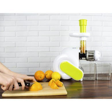 ElectriQ Slow Masticating Horizontal Juicer 1L Fruit, vegetable Extractor Press eBay