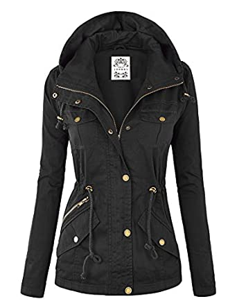 MBJ Womens Military Anorak Safari Hoodie Jacket at Amazon Women's ...