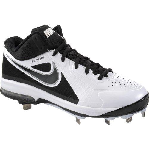 - Nike Men's Air Max MVP Elite 3/4 Metal Baseball Cleats, 524957-101 (14 D(M) US, White/Black)