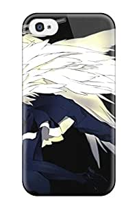 DanRobertse Scratch-free Phone Case For Iphone 4/4s- Retail Packaging - Pistols Guns Anime Boys Miwa Shirow