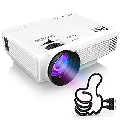 """DR. J Professional Full HD 1080P [Bluetooth] Supported Mini Projector 170"""" Display - LED Video Projector, Compatible with HDMI, USB, SD, TV Stick, Smartphone (Latest Upgrade)"""
