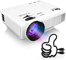 "DR.J Projector (Latest Upgraded), Mini Projector with 176"" Projection Size, 1080P Supported Full HD Video Projector..."