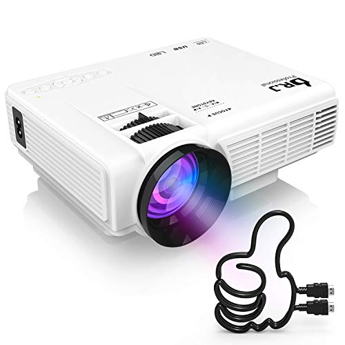 DR. J Professional Full HD 1080P [Bluetooth] Supported Mini Projector 170' Display - LED Video Projector, Compatible with HDMI, USB, SD, TV Stick, Smartphone (Latest Upgrade)