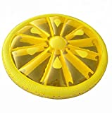 Giant Inflatable Lemon Slice Floating Row Adults Kids Summer Beach Toy Swimming Pool Party Lounge Round Raft-Yellow
