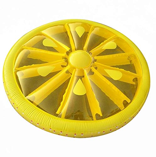 Giant Inflatable Lemon Slice Floating Row Adults Kids Summer Beach Toy Swimming Pool Party Lounge Round Raft-Yellow by WYL (Image #5)