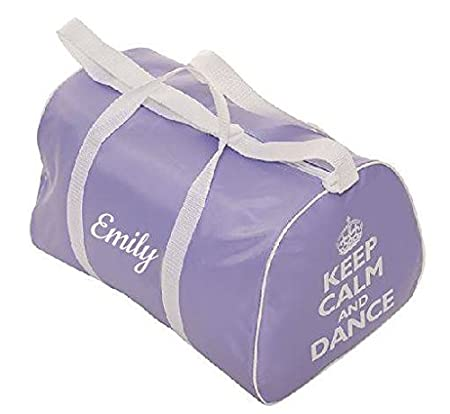 KEEP CALM AND DANCE PERSONALISED dance ballet holdall bag - pink or lilac Tappers & Pointers