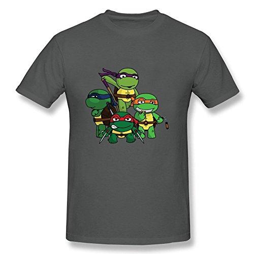 [Funny Quotes Man Chibi Teenage Mutant Ninja Turtles 100% Cotton Short Sleeve T Shirt DeepHeather S] (Bobs Burgers Couples Costume)