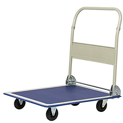 330LBS Platform Cart Folding Dolly Foldable Warehouse Moving Push Hand Truck Non-slip deck surface #602