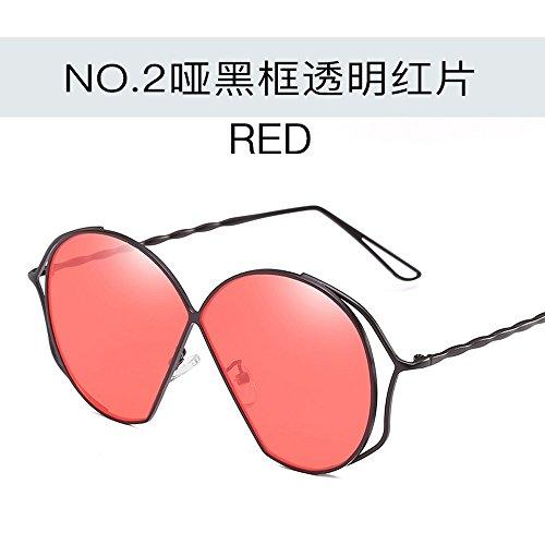 Transparente Sol Gran De Gafas Sol De Creativas Azul De roja Gafas De película Marco Mudo para Gafas Personalidad Metal Gelatina De Marco Gafas negro De Sol Plata JUNHONGZHANG enmarcado Mujer De aPxS8Tx