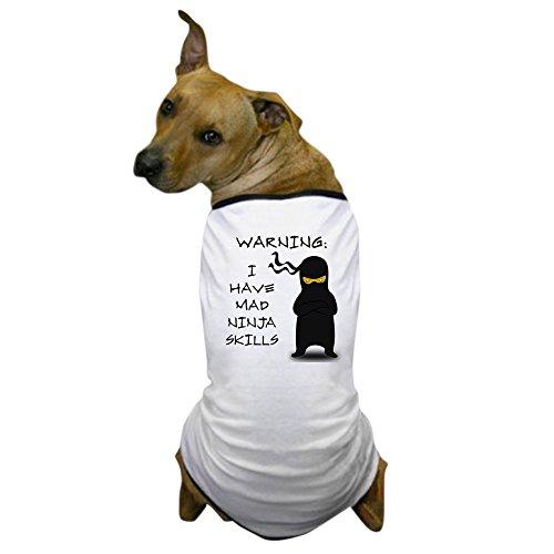 Ninja Dog Costume (CafePress - Mad Ninja Skills Dog T-Shirt - Dog T-Shirt, Pet Clothing, Funny Dog Costume)