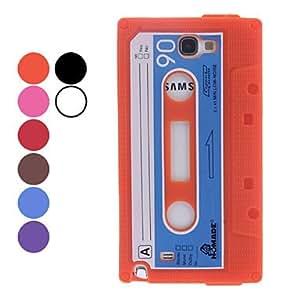 compra Retro Cassette Estilo protectora de silicona de nuevo caso para Samsung Galaxy Note N7100 2 (colores surtidos) , Marrón