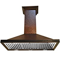 PickUp Z Line 8KBE-30 760 CFM Wall Mount Range Hood with Embossed Copper Finish, 30