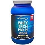Cheap BodyTech Whey Tech Pro 24 Protein Powder Protein Enzyme Blend with BCAA's to Fuel Muscle Growth Recovery, Ideal for PostWorkout Muscle Building Banana Crème (2 Pound)
