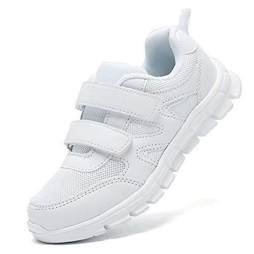 LakeRom Girls Shoes Kids Boys Sneakers School Uniform White Shoes Casual Sport Shoes