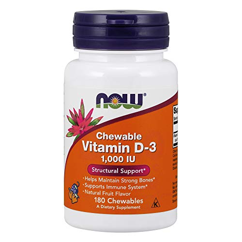 NOW Vitamin D-3 1,000 IU,180 Chewables