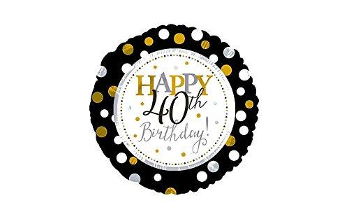 17 Inch Happy 40Th Birthday Foil Mylar Balloon by CTI by CTI (40th Birthday Foil Happy)