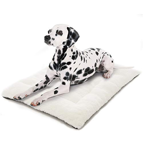 INVENHO Dog Bed Mat Comfortable Soft Crate Pad Anti-Slip Machine Washable Pad Dog Crate Pad Pet Bed for Large Dogs & Cats(35