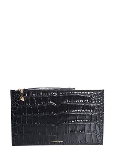 Alexander Mcqueen Women's 570916Dzt0g1000 Black Leather Clutch
