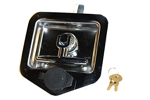 T-handle Locks (T-handle Tool Box Lock Rv Door Latch with Two Keys Stainless Steel Polished)