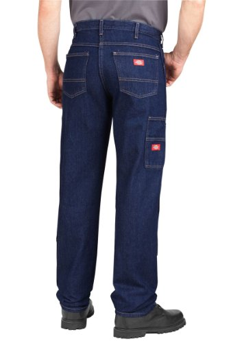 Dickies - - LD200 Industrielle Jean Workhorse, 42W x 30L, Rinsed Indigo Blue
