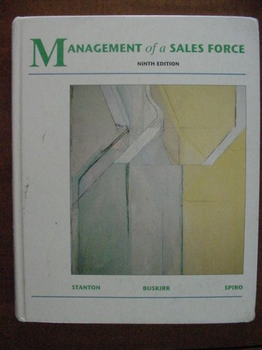 Management of a Sales Force (MCGRAW HILL/IRWIN SERIES IN MARKETING)