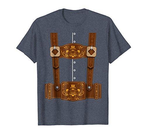 Mens Oktoberfest Funny Lederhosen Bavarian T-Shirt Medium Heather ()