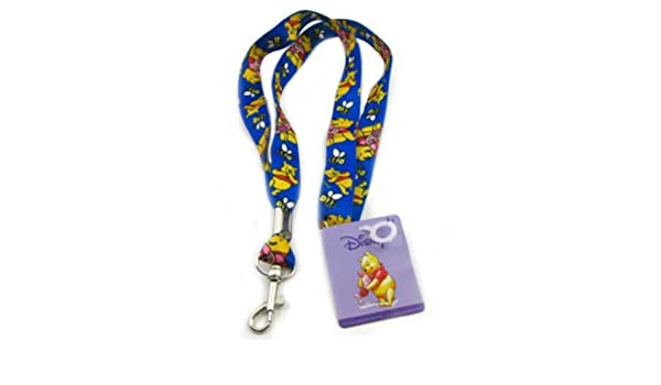 Disney Winnie the Pooh with Piglet Blue Lanyard keychain Holder