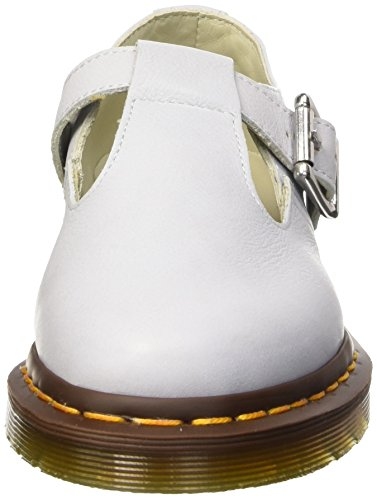 Dr. Martens Damen Core Polley Virginia T-spange Bianco (luna Blu)