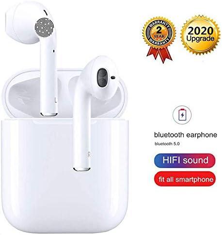 Auriculares Bluetooth 5.0 Auriculares Inalambricos Cascos Bluetooth Headphone Deportivos Estéreo con Mic y Cancelación de Ruido Caja de Carga - Auriculares Compatible con iPhone Airpods/Samsung
