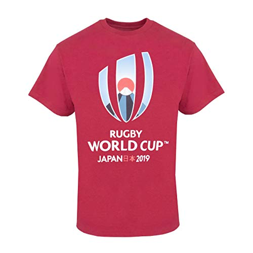 Rugby World Cup T-shirts - Official Rugby World Cup 2019 Mens Logo Plus Size T-Shirt - Red - 2XL