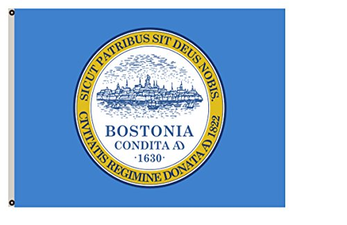 Fyon Massachusetts banner City of Boston Flag 8x12inch