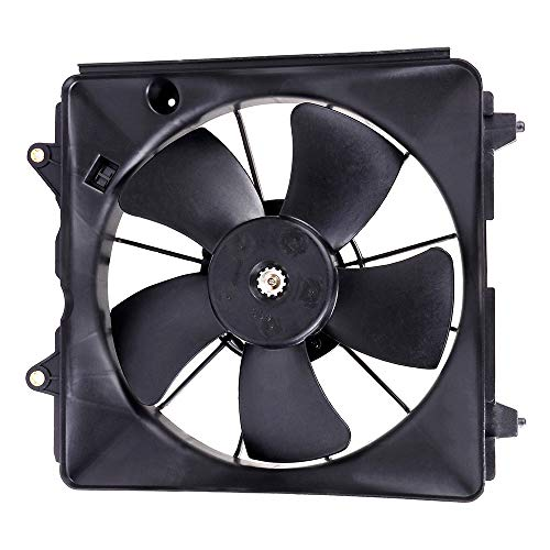 SCITOO Radiator Cooling Fan Engine Motor Assembly HO3117100 Compatible with 2006 2007 2008 2009 2010 2011 Honda Civic 1.8L