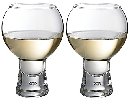 Set Of 2 41cl Thick Stem Modern Wine Glasses